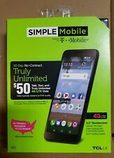 BRAND NEW SIMPLE Mobile TCL LX 4G LTE Prepaid Cell Phone T Mobile