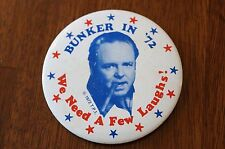 Archie Bunker for President 1972 Pinback Button