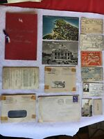 Domain Golden Dragon Neptunus Rex WWII Certificate Navy ID Card Letters SS LOT