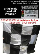 bandierone  juventus 285x210 cm bandiera juve scacchi 3x2 metri SCHEDA  omaggio