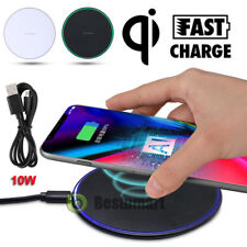 Qi Wireless Charger 10W Fast Charge Pad For iPhone 7 X Max XR Samsung S9+ Note 9