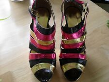 BRAND NEW LADIES REVEAL STILETTO PLATFORM SHOES SIZE 5