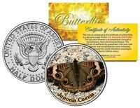 JUNONIA COENIA BUTTERFLY  JFK Kennedy Half Dollar US Colorized Coin