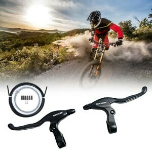 Left&Right Brake Levers MTB 4-finger Bicycle Handle Hand Aluminum Alloy