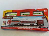 Klassische Kinder Eisenbahn Zug Set NEU ca 92cm Batteriebetrieben Starterset Lok