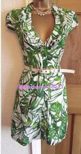 LOVELY ❤️  JANE NORMAN GREEN WHITE RUFFLE SHIRT SUMMER PARTY DRESS SIZE 12 14
