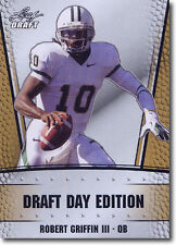 ROBERT GRIFFIN III - RG3 - 2012 Leaf Draft Day GOLD Football PROMOTIONAL Card b