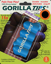 GORILLA TIPS FINGERTIP GUARDS/PROTECTORS for GUITAR BANJO UKULELE SMALL BLUE