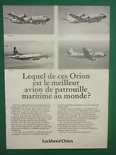 3/77 PUB LOCKHEED P-3 A B C ORION MARITIME PATROL AIRCRAFT US NAVY FRENCH AD