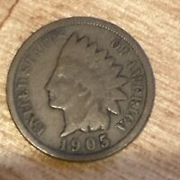 FREE SHIP! VG 1905 Indian Head Cent -116 Year Old Penny - Philadelphia Coin -L5