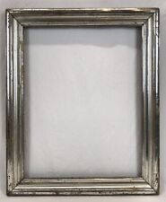 Antique Mid 19th C Silver Lemon Gold Gilt Frame 14 3/4 x 18 3/4 Opening