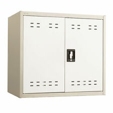 Safco 27h Steel Storage Wall Cabinet In Tan Finish 5530tn