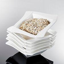 "Malacasa 18-pieces 5.5""Porcelain Cereal Bowl China Ceramic Dinner Set Soup Plate"