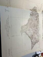 1932 Como 1 & 2 Quadrangle - advance sheet USGS Colorado topological map