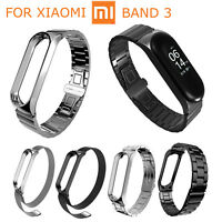 Metal Cover Stainless Steel Watch Strap For Xiaomi Mi Band 3 Smart Bracelet Band