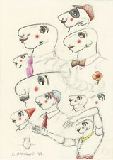 Milionis - KARAGIOZIS V - Original Signed Colored Drawing on 80gr paper 1999