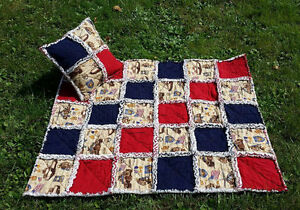SALE Infant Rag Quilt Set, Bedding, Special Forces themed Infant Quilt Set 34x40
