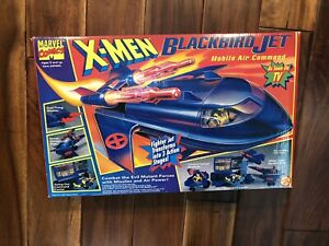 Marvel X-Men Blackbird Jet Mobile Air Command Bonus Blueprint Toy Biz NIB Rare