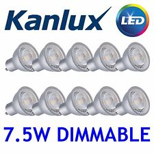 10x Kanlux PRODIM LED GU10 Dimmable Light Bulb 6500K Daylight White Lamp 7.5W