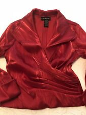 Cache Dressy Red Blouse, Sz 8, VGUC - Gorgeous and Sexy!!