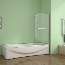 180° Pivot 800x1400mm Shower Bath Screen Over 5mm Glass Door Panel Towel Rail