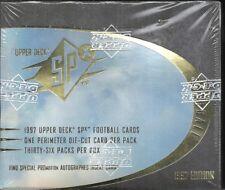 1997 Upper Deck SPx Factory Sealed Football Hobby Box   Dan Marino AUTO ??