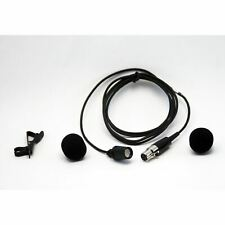 Shure Lavalier (Clip-On) Wireless CVL Microphone; Fits and Shure Belt Pack