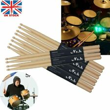 More details for 10 pairs drum sticks 5a drumsticks maple high quality wood feel johnny brook uk