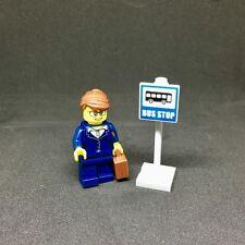 Lego parada de autobús Mini Kit (Minifigura + parada de autobús) - ciudad de diversión en el parque 60134