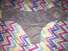Gilly Hicks By Abercrombie & Fitch Small Gray Lacey Waist Thong NWT Undies GH