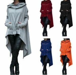 Punk Gothic Damen Tasche Hoodie Pullover Pullikleid Kapuzenkleid Shirt Minikleid