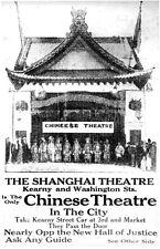 Print 1889 California. Advertisement:  Chinese Theatre - Shanghai Theatre