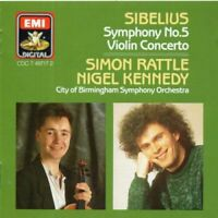 Simon Rattle & Nigel Kennedy - Sibelius: Symphony No.5/Violin Conce (CD) (1994)
