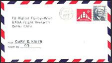 F-8 DIGITAL FLY-BY-WIRE FLIGHT #3 Pilot Gary Krier 1972 Space Cover