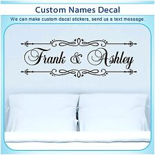 Personalized custom Love Name Married Bed Art Wall Vinyl Decor Sticker Decal 149