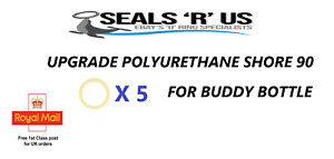 "5 x ""Upgraded"" Buddy Bottle O Ring Seals for Theoben Rapid 7 / BSA"