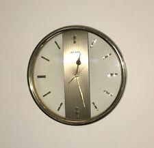 "Zenix Quartz Vintage Wall Clock Mid Century Modern Gold Rim Battery Op. 12 1/2"""