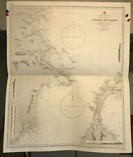 Strait of Macassar Navigational Chart / Hydrographic Map # 2636 Borneo Indonesia