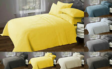 Quilted Bedspread Embossed Stitch Comforter Throw Bedding Set With Pillow shams