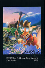 """Carl Barks 1901-2000 genuine autograph 6""""x8"""" photocard signed Scrooge McDuck"""
