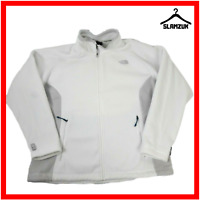 The North Face Mens White Fleece L Large Polartec Jumper Jacket Full Zip Polar