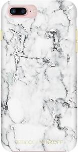 Rebecca Minkoff iPhone 8 Plus 7 Plus Double Up Protective Case Marble Foil Print