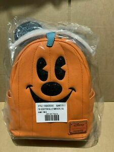 Disney Loungefly Mickey Mouse Pumpkin Jack Lantern Halloween Mini Backpack bag 1