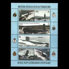 "British Indian Ocean BIOT - ""SHIPS ~ ROYAL NAVY SUBMARINE CENTENARY"" MNH MS 2001"