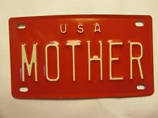 Personalized U S A MOTHER Mini Bike Vanity Name License Plate 3