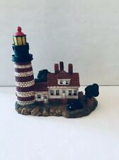 Light House Figurine Red White with Vintage Auto Car Spoontique? Lighthouse Used