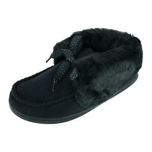 New Isotoner Women's Microsuede Nelly Moc Bootie Slippers