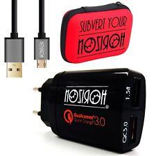 Caricabatteria USB Muro Parete 2 Porte Carica Veloce + Cavo Micro USB Set Combo