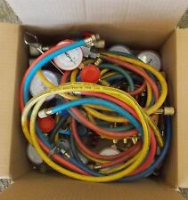 R-134a Air Conditioning Manifold Gauge Set Hoses & Quick Connects BULK LOT