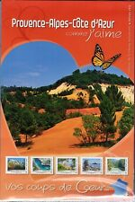 COLLECTOR TIMBRES COMME J' AIME PROVENCE ALPES C.  2012  10 TIMBRES AUTOCOLLANTS